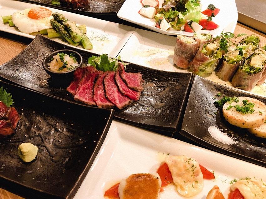 川崎でアラカルトメニューの鉄板焼きとワイン