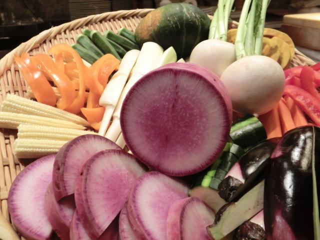 川崎の鉄板焼きで焼き野菜を堪能
